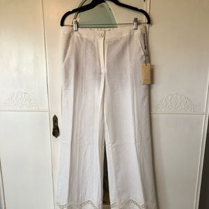 elevenses Pants - Anthropologie Elevenses Linen Blend Pant - sz 4T